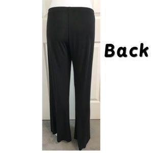 Karen Kane Pants - Karen Kane, Elastic Waistband Wide Bell Cuff Pants